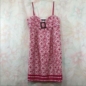 Signature London Style Fuchsia Geo Print Dress